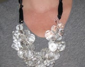 Satin Ribbon Chandelier Necklace