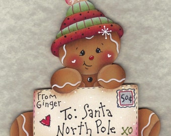 Letter To Santa Gingerbread E-Pattern