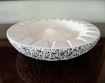 Big Kenwood Shawnee White Confetti Ceramic Ashtray