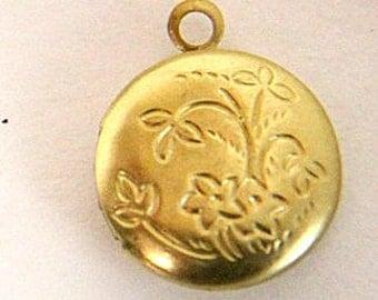 12 pcs of brass round locket 12mm-BL3023-raw brass