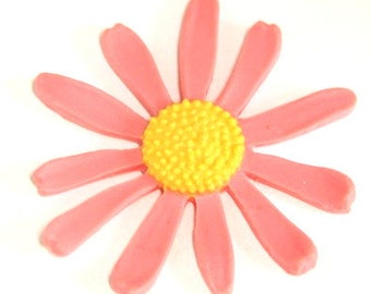 12 pcs of 60mm flower cabochon-RC0468-pink