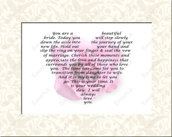Gifts For Bride On Wedding Day From Bridesmaid: Personalized Bridal Gift For Wedding Day Gift Poem From Mom Or