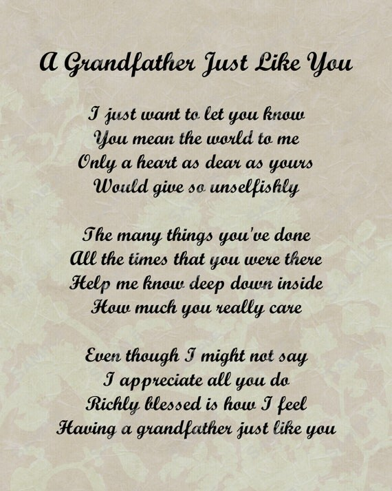 i love you grandpa poems - photo #1