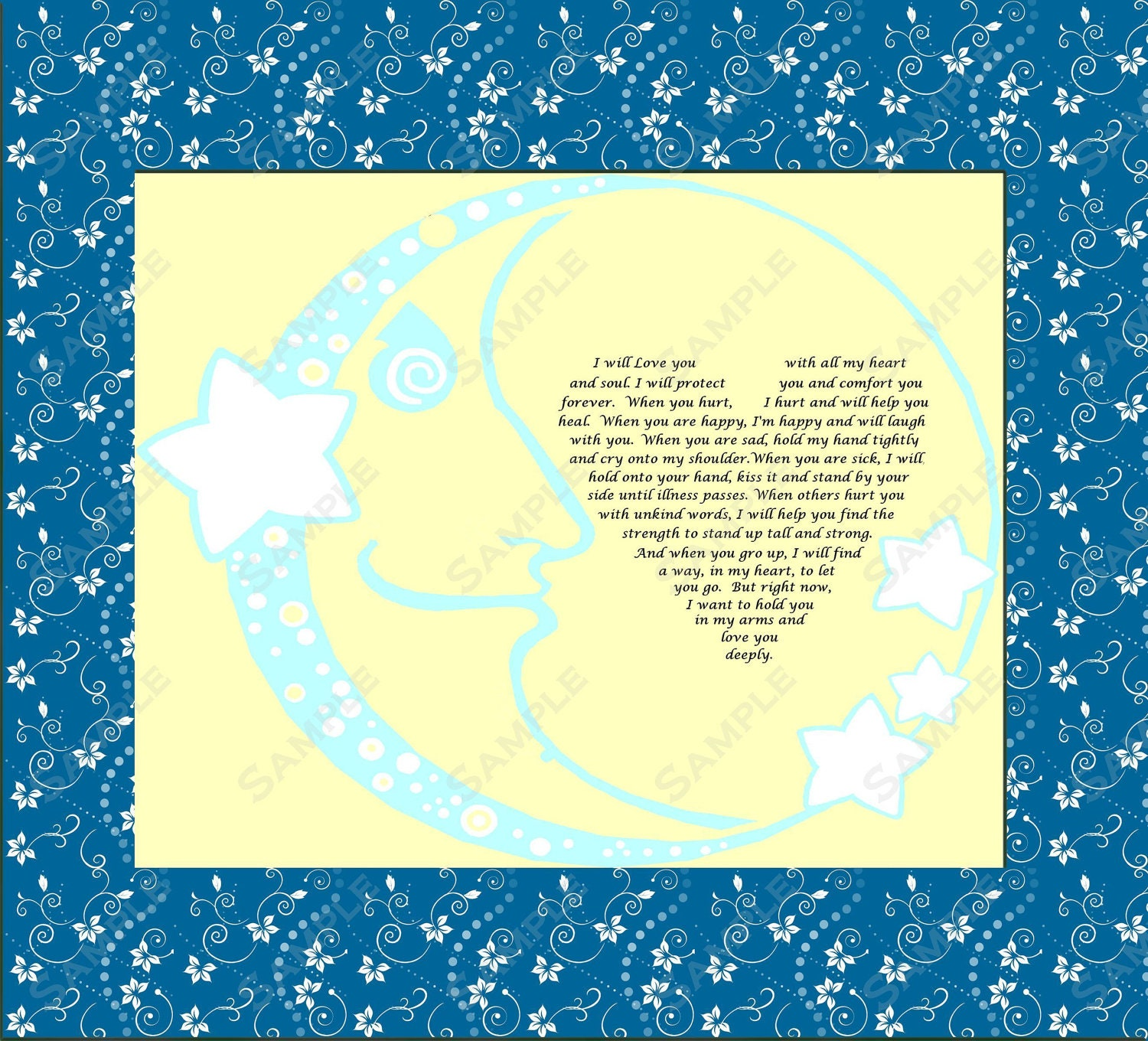 Items similar to Baby Boy Gift Love Poem for New Baby ...