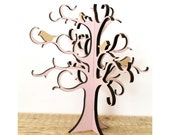 Double Jewelry Tree, Cottage chic Jewelry storage - Jewellery stand - present - Housewarming present