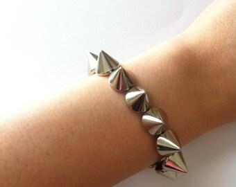 Silver Spike Studded Bracelet
