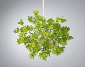 Hanging Chandeliers with Green jumping flowers for hall, bedroom or as a bedside lamp.