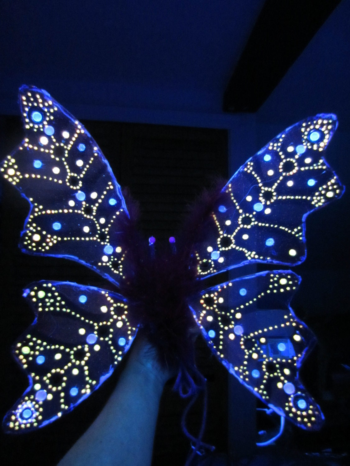 Children's or Adult Glow in the Dark Fairy Wings Costume