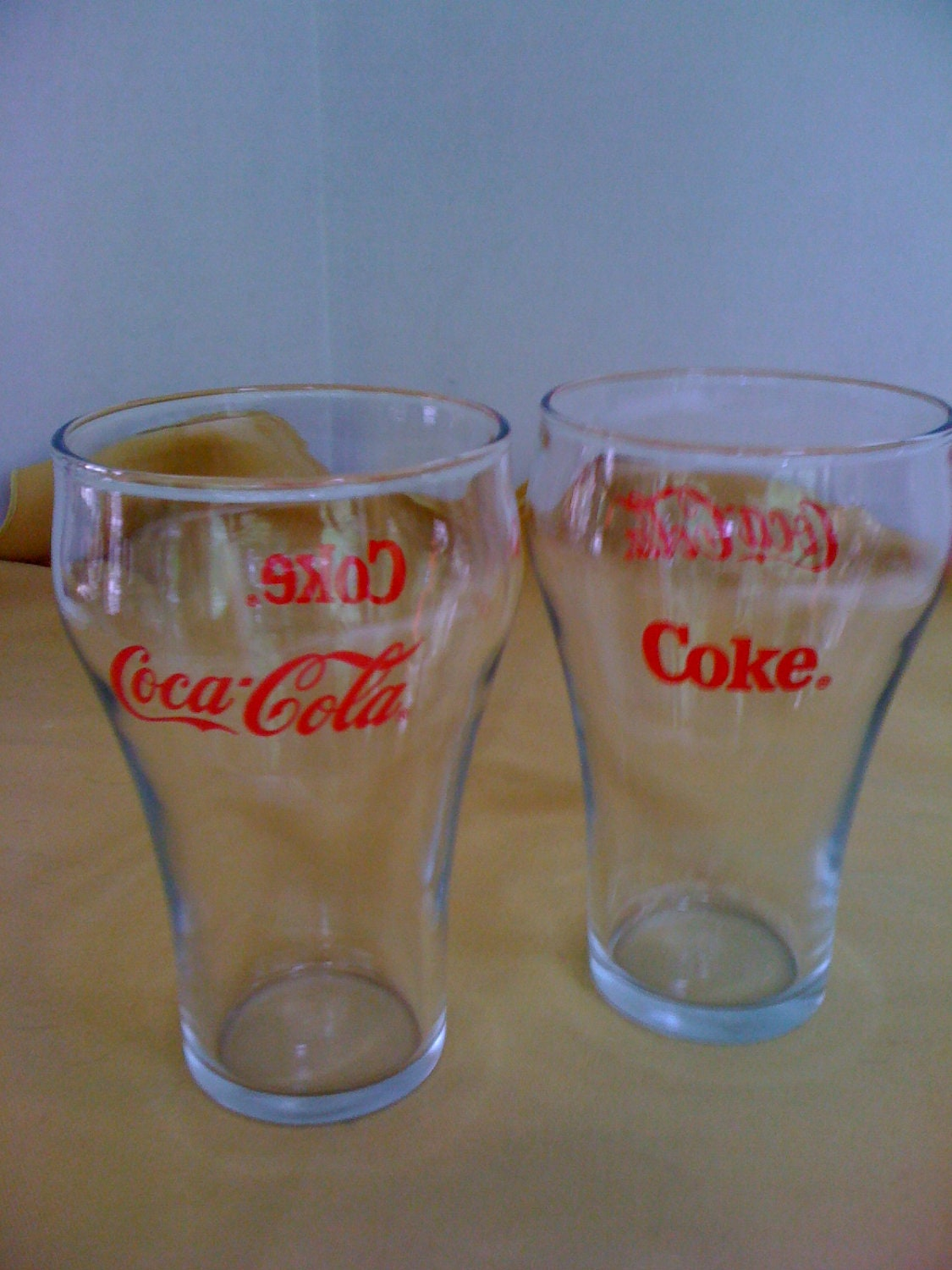 Coca Cola Vintage Fountain Glasses Red Coke By