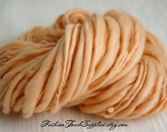 SALE: Thick and Thin Handspun Yarn, Vanilla Merino Art Yarn, Super Bulky, knitting supplies crochet supplies, thick n thin