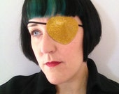 Child or Adult Sparkle Vinyl Eyepatch (Eye Patch) - Pirate - Halloween Costume Accessory - Choose Your Color