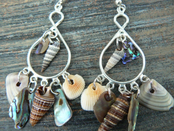 abalone seashell chandelier earrings shell earrings resort and cruise wear summer mermaids gypsy boho hippie style