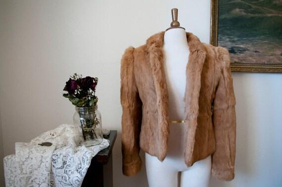 SALE: Rabbit Fur Coat