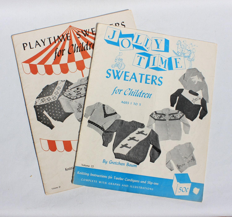 Vintage Knitting Books : Vintage knitting books for children s sweaters