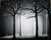 Dark Forest 16x20 Original Acrylic Painting