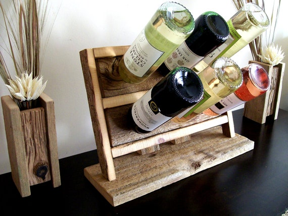 Rustic / Reclaimed / Barn Wood / Bar Top / Counter Top / Table Top  Wine Bottle Rack