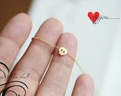 Tiny gold skull necklace -GOLD- Small skull necklace