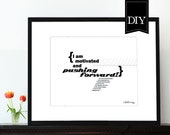 Christian art print 8x10 PDF DOWNLOAD Typographic print Inspirational artwork Bible verse Scripture Wall art Habakkuk 2:3 Motivated