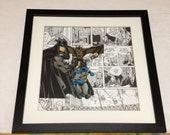 Batman Comic Book Panel Art - Mixed Media - Collage