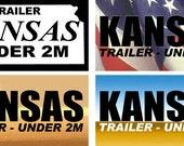 Kansas Under 2M Trailer License Plates Tag