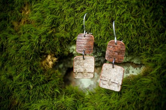 Birch Bark Earrings Number 13