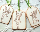 Disney's Tinkerbell Tags (Disney Tinkerbell Birthday Party/ giftwrap/ favors) -Set of 6 Assorted Tinkerbell Gift Tags