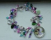 Fancy Fairies Silver Colored Charm Bracelet