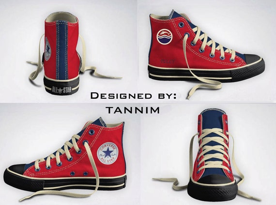 Custom Game of Thrones: House Tully Converse Chucks