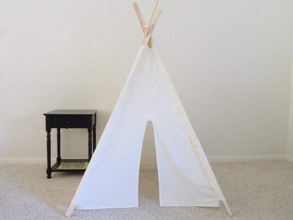 Teepee Play Tent  fort Wigwam Made to Order White Play Tent Kids White Tent  Gift for Kids