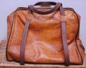 Vintage Leather Sewing Machine Bag- Singer