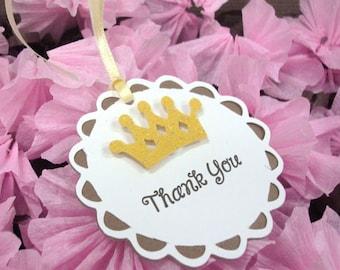 Handmade Yellow Crown Thank You Tag