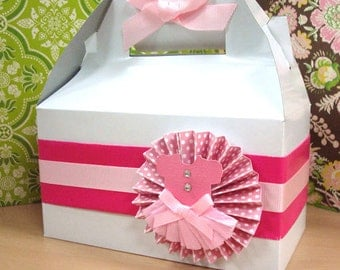 Handmade Pink Ballerina Thank You Dessert Box or Goodie Box for Birthday's or any Occassion