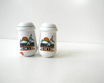 vintage fun sailboat in ohio salt and pepper shakers