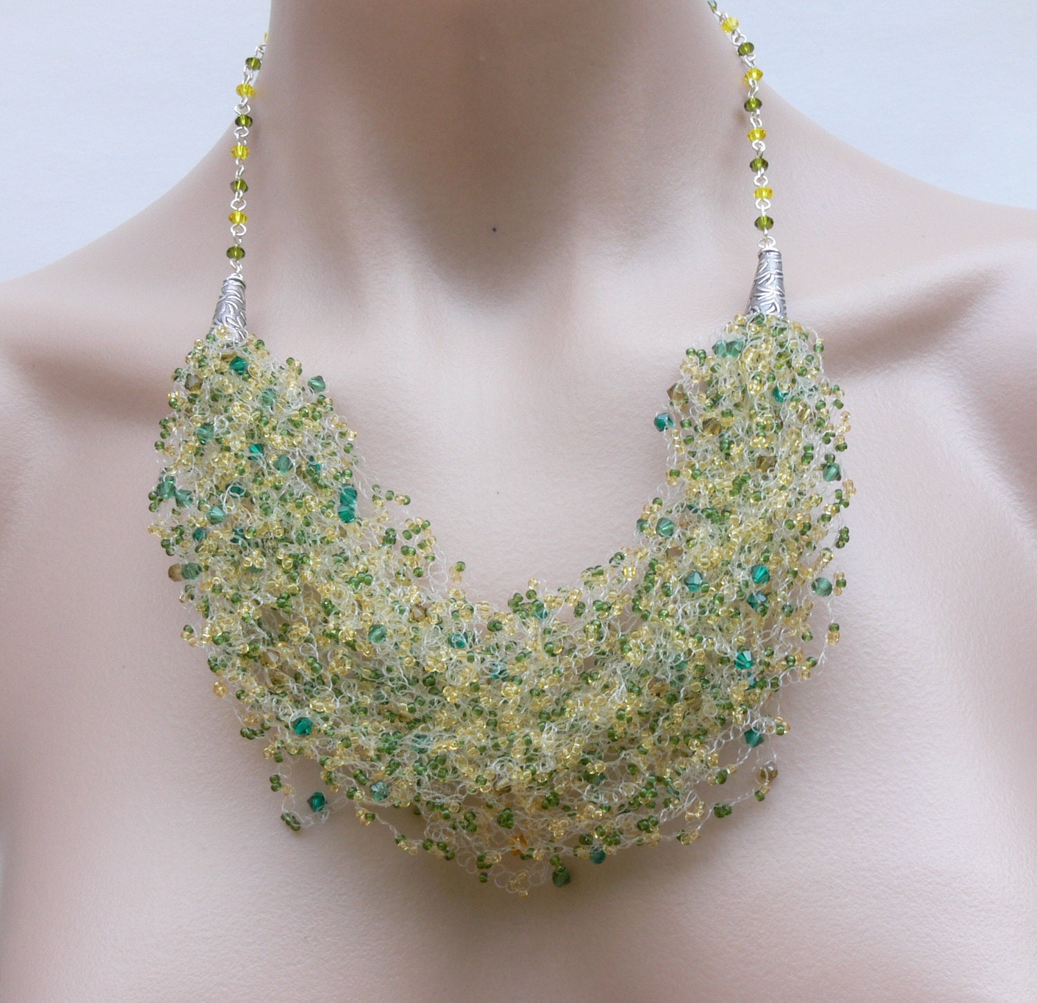 Necklace Beads: Crochet Necklace Crystal Necklace Bead Crochet Necklace