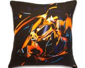 "17 inch, ""Mike"" bright colorful contemporary modern accent pillow"