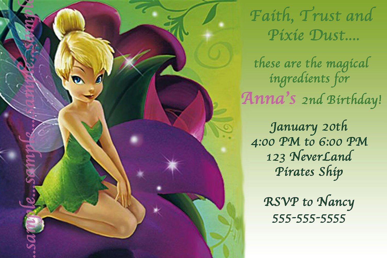 printable tinkerbell invitations printable invitation templates tinkerbell invitations tinkerbell invitation disney