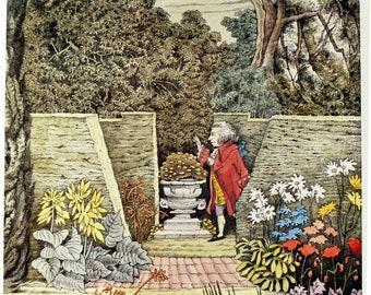 Maurice Sendak  - Mozart in the Garden- perfect for child / children - Vintage Poster Print