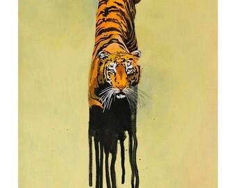 art print of original illustration, Tiger