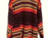 Bohemian Sunset Tribal Aztec Patterned Sweater S-L