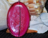 Oval Pink Glass Pendant