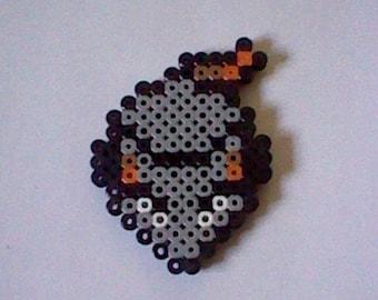 The Legend of Zelda Rat perler bead creation....melted beads with magnet on back