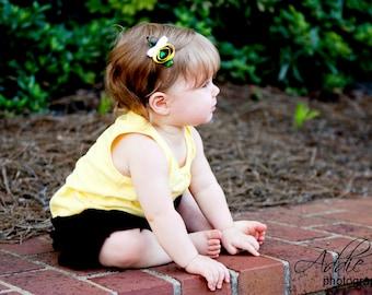 Bumble Bee Hair Clip /  Bumble Bee Ribbon Sculpture Clip / Hair Clip / Baby Hair Clip / Toddler Hair /
