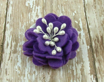Felt Flower Hair Clip.Baby Girl Felt Clip.Hair Clip.Baby Hair Clip.Toddler Hair Clip.Felt Flower Clip.Felt Clip.No Slip Clip.Eco Friendly