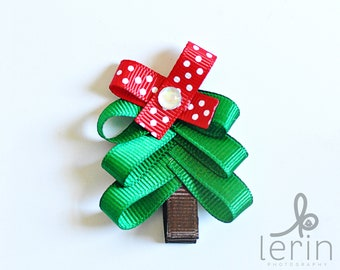 Christmas Bows.Christmas Hair Bows.Christmas Clip.Christmas Hair Clips.Holiday Hair Bows.Holiday Hair Clips.Christmas Tree Hair Clip.Xmas