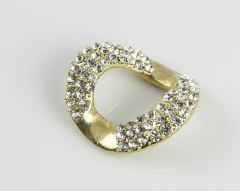 FREE Shipping Pave Link for Bracelet and Necklace, with AAA Rhinestones, 30x33mm, Pkg of 1 PCS, L0CB.UN91.P01