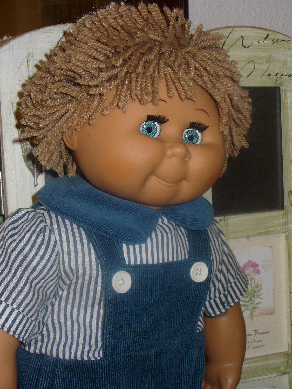 Vintage Cabbage Patch Kids Type Doll David Craft Orig Blue