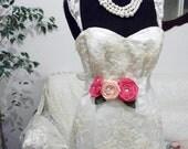 Wedding Belt - Bridal Sash - Bridal Belt - Bridesmaid Sash - Wedding Dress Sash - Maternity Sash