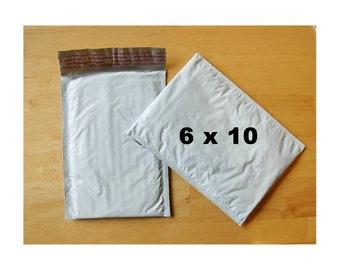 25 -  Poly Bubble Mailers - Padded Envelopes  - 6 in x 10 in (Size 0)