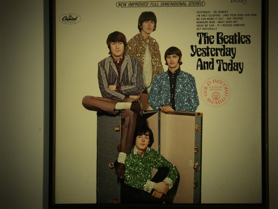 Glittered Record Album - The Beatles - Yesterday and Today