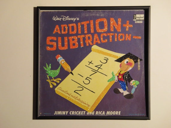 Glittered Record Album - Walt Disney - Addition  Subtraction
